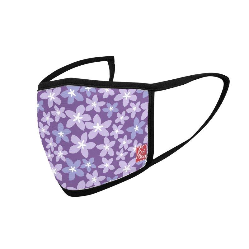 Plumeria - Purple Accessories Face Mask by 6degreesofhapa's Artist Shop