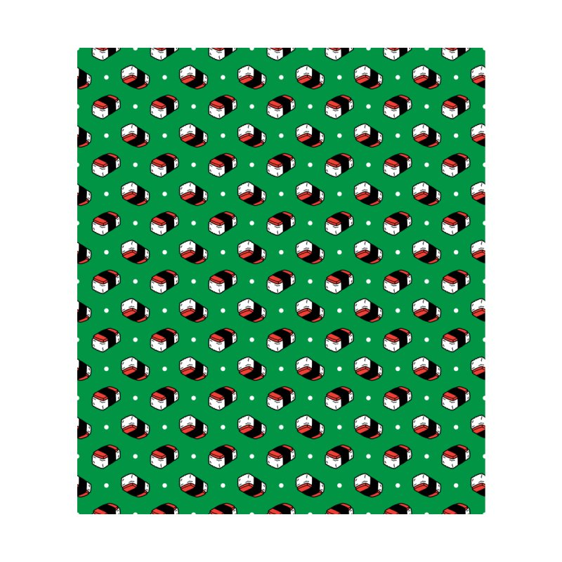 Musubi Madness - Green Accessories Face Mask by 6degreesofhapa's Artist Shop