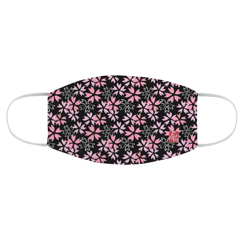 Sakura - Black Accessories Face Mask by 6degreesofhapa's Artist Shop