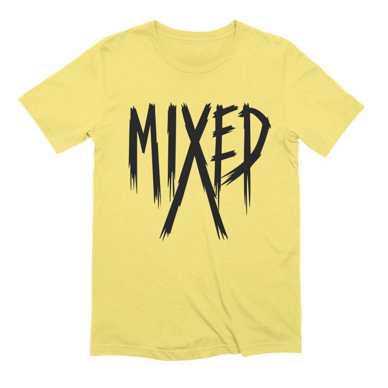 MIXED - Metal - Black Men's T-Shirt by 6degreesofhapa's Artist Shop
