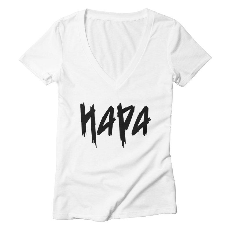 Hapa - Metal - Black Women's V-Neck by 6degreesofhapa's Artist Shop