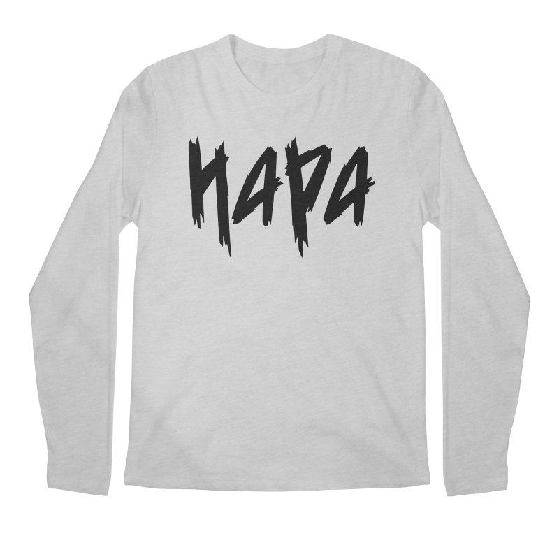 Hapa - Metal - Black Men's Longsleeve T-Shirt by 6degreesofhapa's Artist Shop