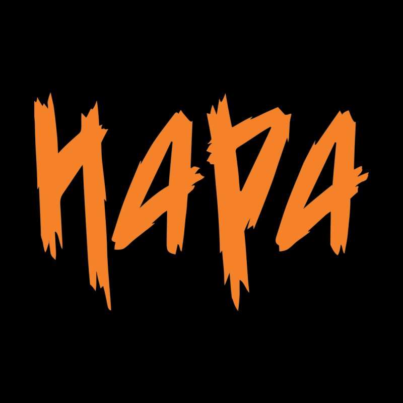 Hapa - Metal - Orange Men's Longsleeve T-Shirt by 6degreesofhapa's Artist Shop