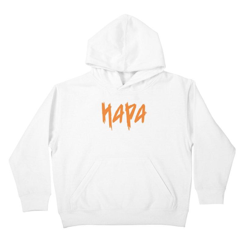 Hapa - Metal - Orange Kids Pullover Hoody by 6degreesofhapa's Artist Shop