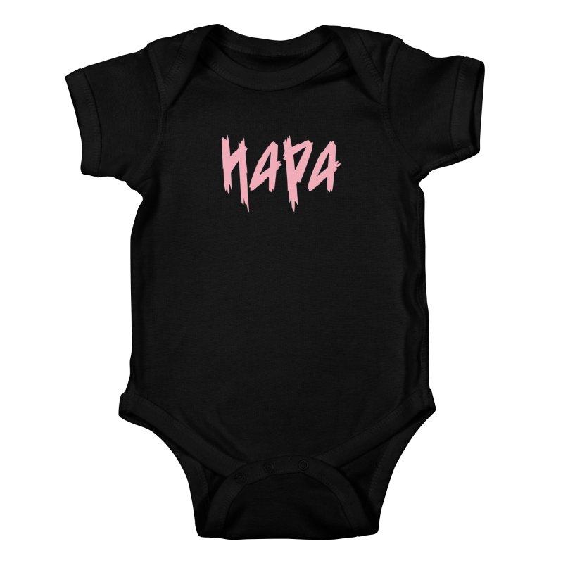 Hapa - Metal - Pastel Pink Kids Baby Bodysuit by 6degreesofhapa's Artist Shop