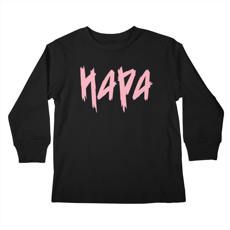 Hapa - Metal - Pastel Pink Kids Longsleeve T-Shirt by 6degreesofhapa's Artist Shop
