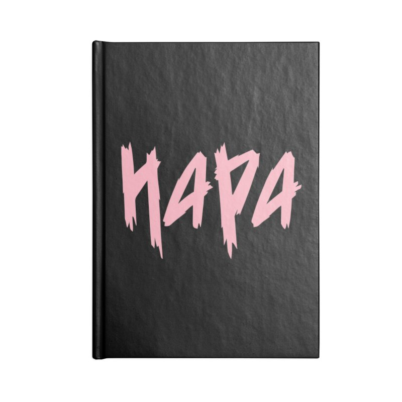 Hapa - Metal - Pastel Pink Accessories Notebook by 6degreesofhapa's Artist Shop