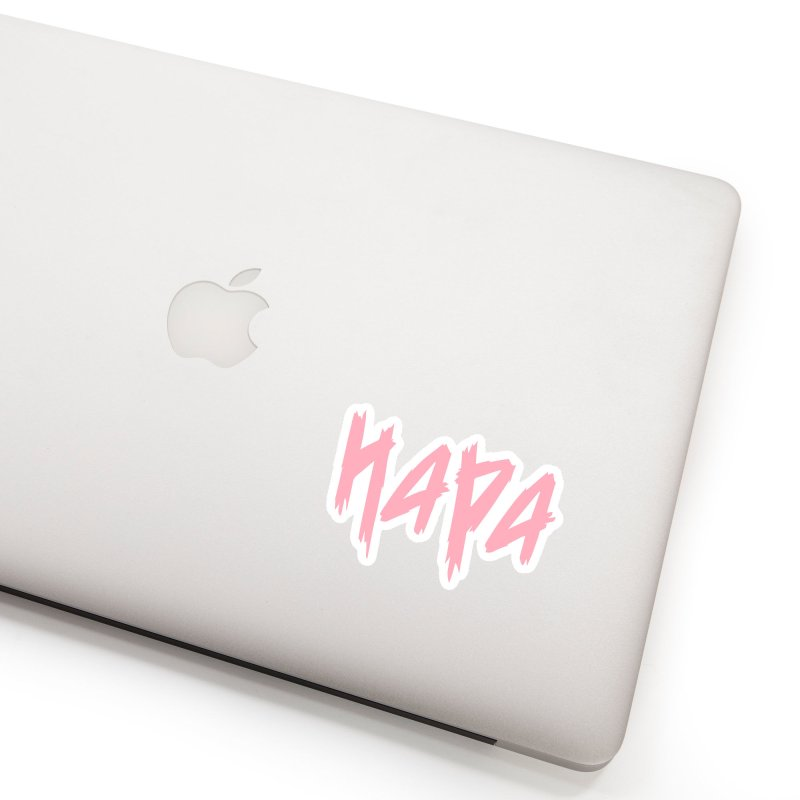 Hapa - Metal - Pastel Pink Accessories Sticker by 6degreesofhapa's Artist Shop