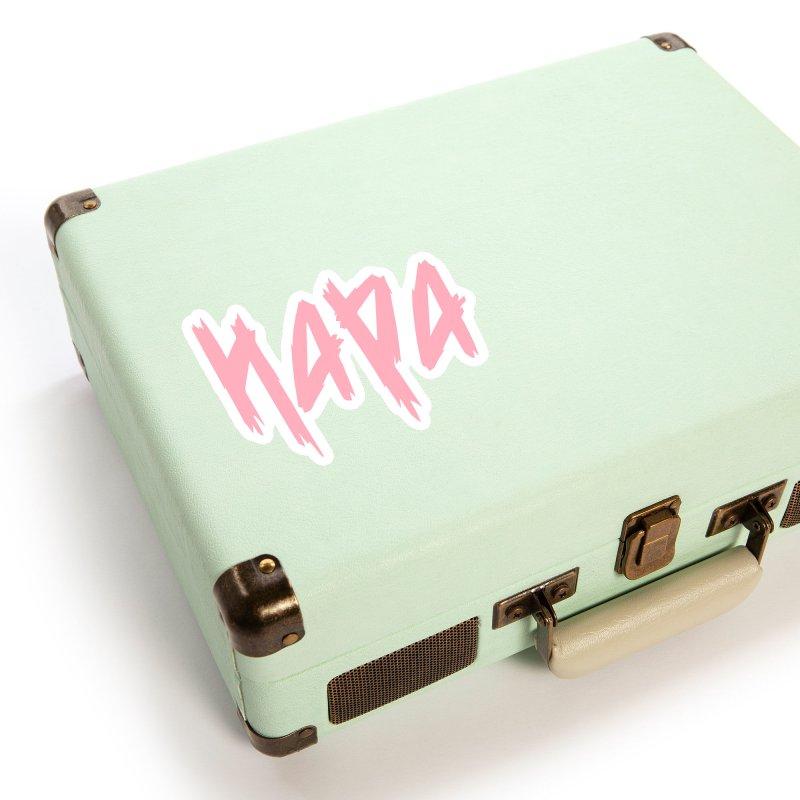 Hapa - Metal - Pastel Pink Accessories Sticker by 6degreesofhapa's Artist Shop