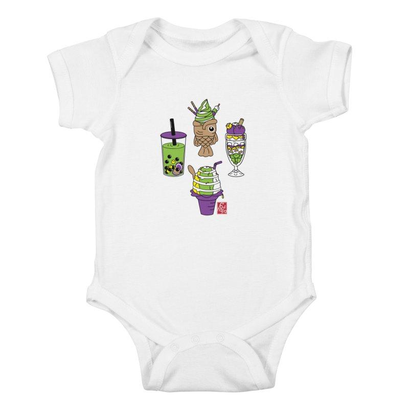 Desserts Kids Baby Bodysuit by 6degreesofhapa's Artist Shop