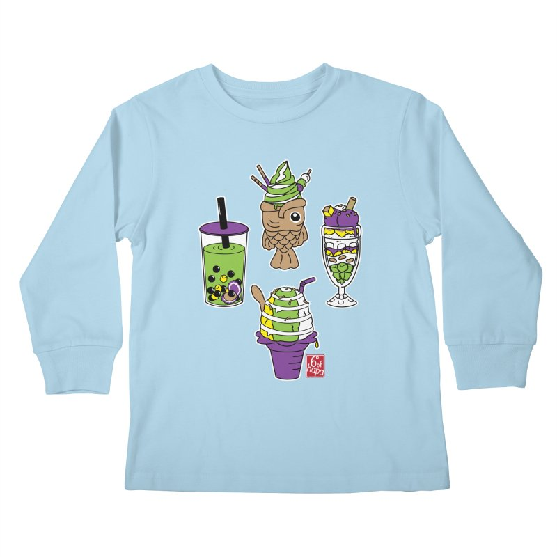 Desserts Kids Longsleeve T-Shirt by 6degreesofhapa's Artist Shop