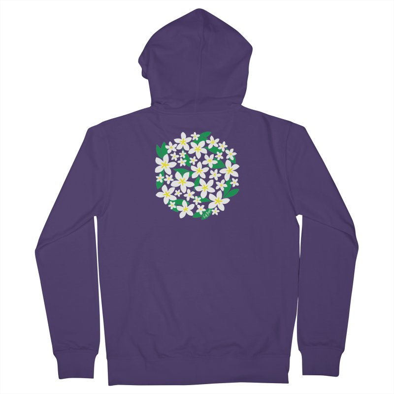 Plumeria in the Round Women's Zip-Up Hoody by 6degreesofhapa's Artist Shop