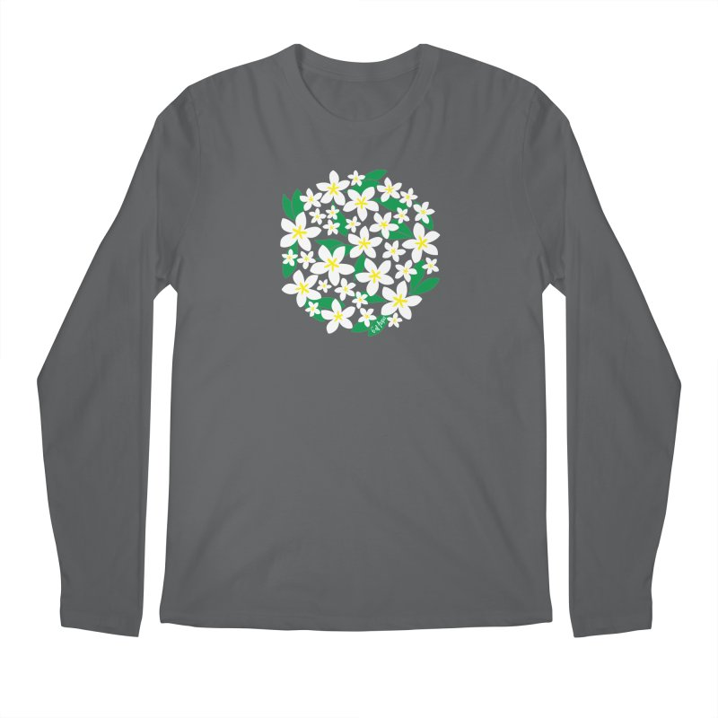 Plumeria in the Round Men's Longsleeve T-Shirt by 6degreesofhapa's Artist Shop