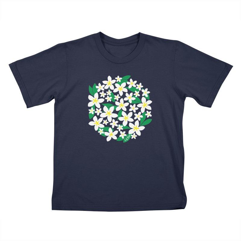 Plumeria in the Round Kids T-Shirt by 6degreesofhapa's Artist Shop