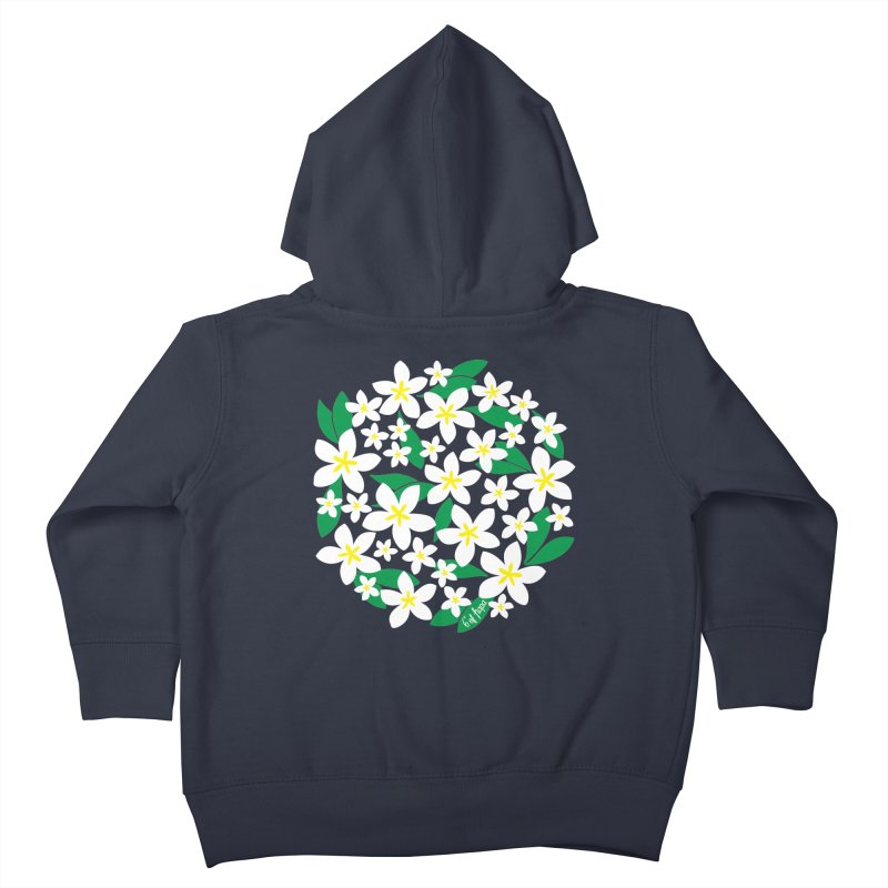 Plumeria in the Round Kids Toddler Zip-Up Hoody by 6degreesofhapa's Artist Shop