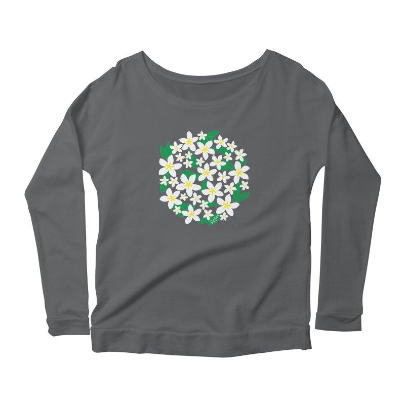 Plumeria in the Round Women's Longsleeve T-Shirt by 6degreesofhapa's Artist Shop