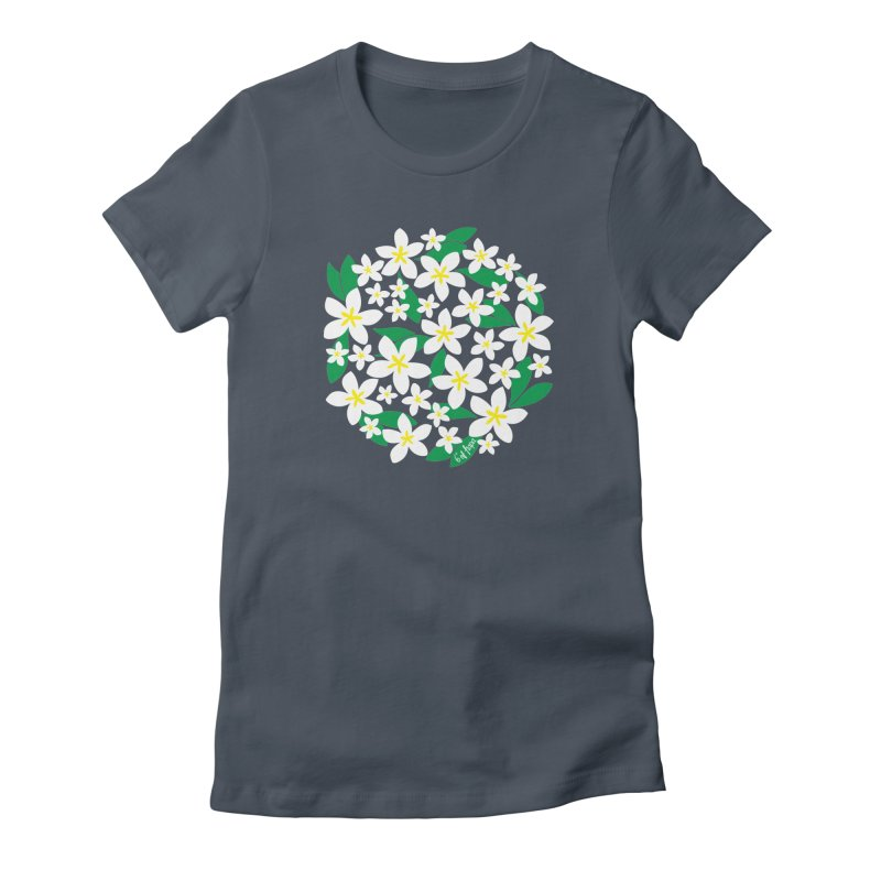 Plumeria in the Round Women's T-Shirt by 6degreesofhapa's Artist Shop