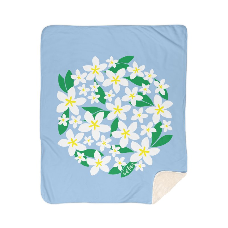 Plumeria in the Round Home Blanket by 6degreesofhapa's Artist Shop