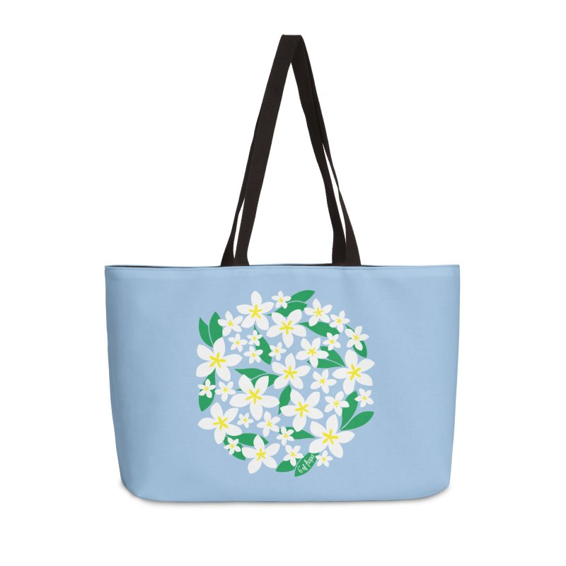Plumeria in the Round Accessories Bag by 6degreesofhapa's Artist Shop