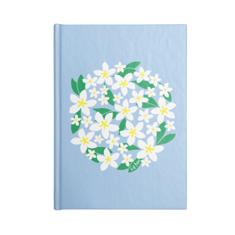 Plumeria in the Round Accessories Notebook by 6degreesofhapa's Artist Shop