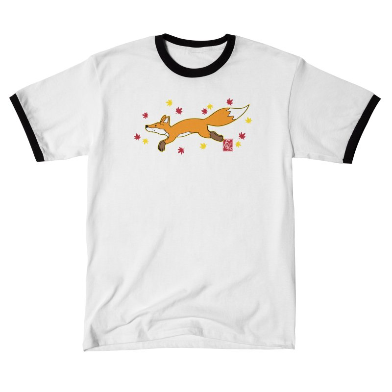 Leaping Fox Women's T-Shirt by 6degreesofhapa's Artist Shop