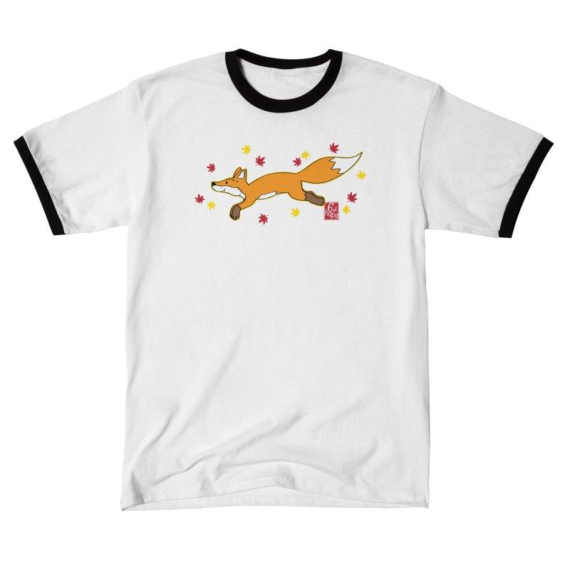 Leaping Fox Men's T-Shirt by 6degreesofhapa's Artist Shop