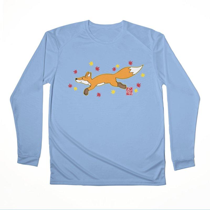 Leaping Fox Men's Longsleeve T-Shirt by 6degreesofhapa's Artist Shop