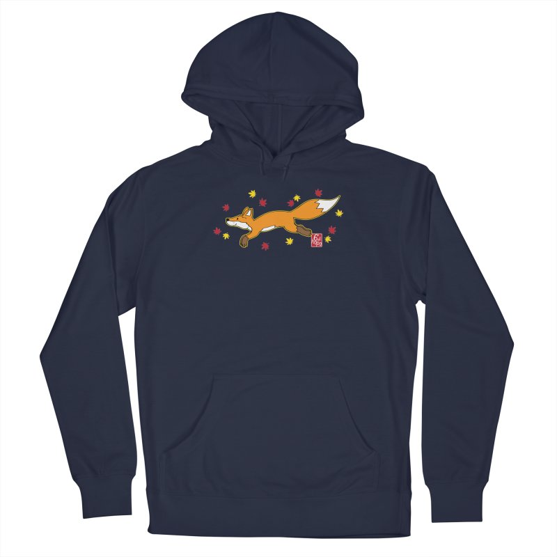 Leaping Fox Men's Pullover Hoody by 6degreesofhapa's Artist Shop