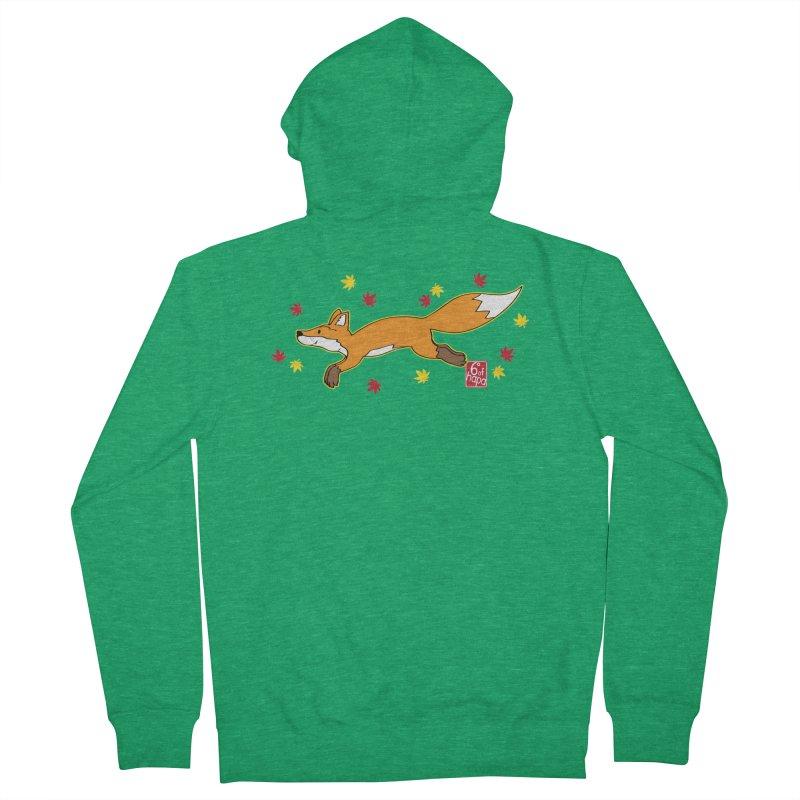 Leaping Fox Men's Zip-Up Hoody by 6degreesofhapa's Artist Shop