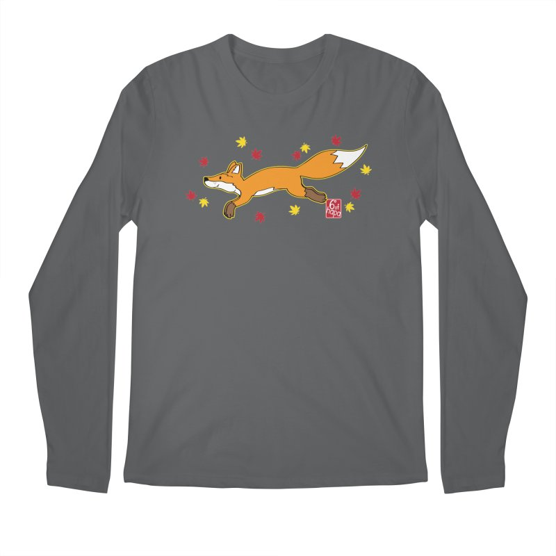 Leaping Fox Men's Longsleeve T-Shirt by 6degreesofhapa's Artist Shop