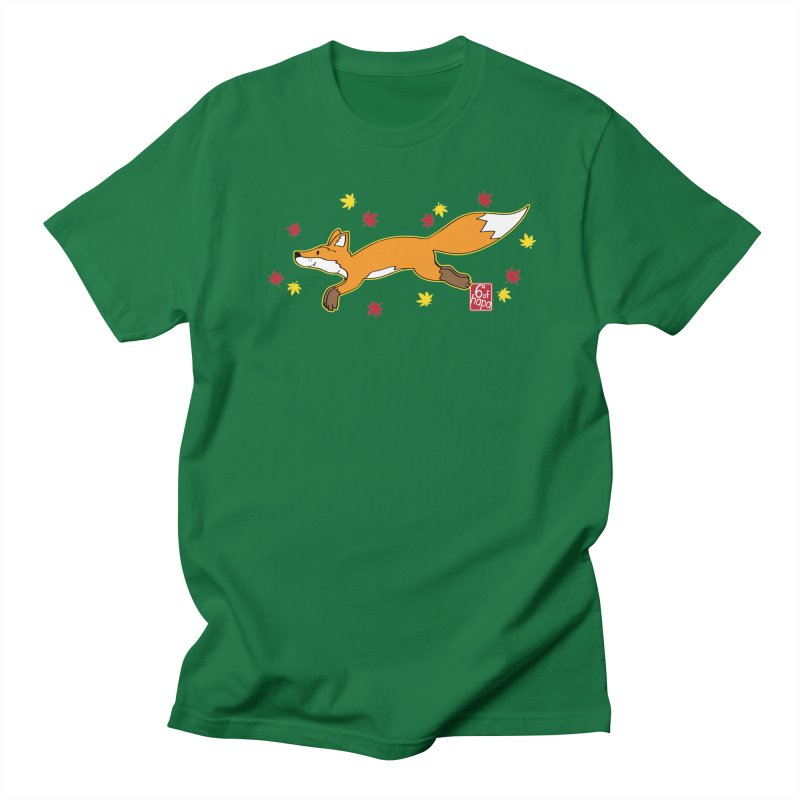 Leaping Fox Men's T-Shirt by 6degreesofhapa's Artist Shop