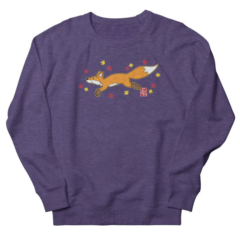 Leaping Fox Men's Sweatshirt by 6degreesofhapa's Artist Shop