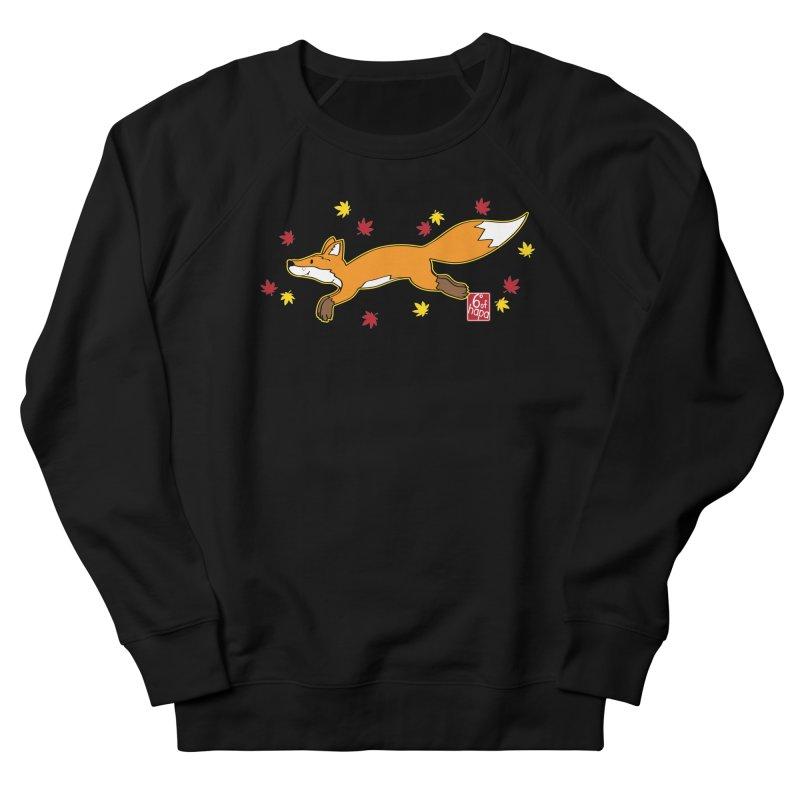 Leaping Fox Men's Sweatshirt by 6degreesofhapa's Artist Shop