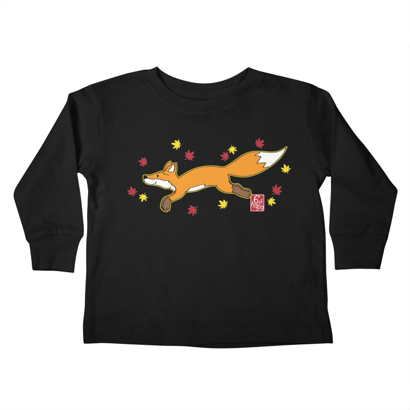 Leaping Fox Kids Toddler Longsleeve T-Shirt by 6degreesofhapa's Artist Shop