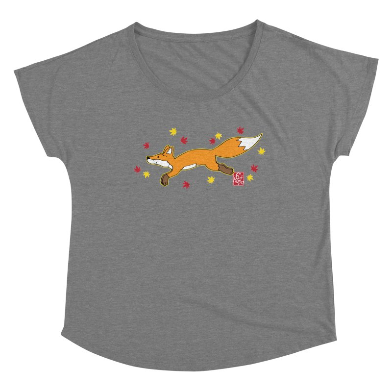 Leaping Fox Women's Scoop Neck by 6degreesofhapa's Artist Shop