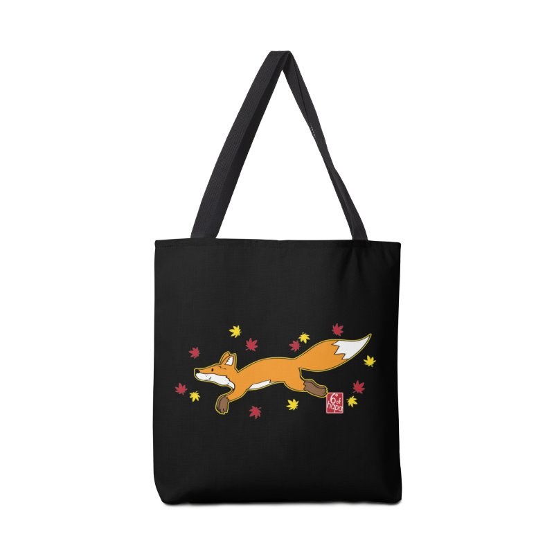 Leaping Fox Accessories Bag by 6degreesofhapa's Artist Shop
