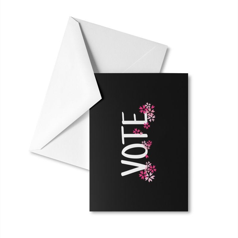 VOTE - Sakura Accessories Greeting Card by 6degreesofhapa's Artist Shop