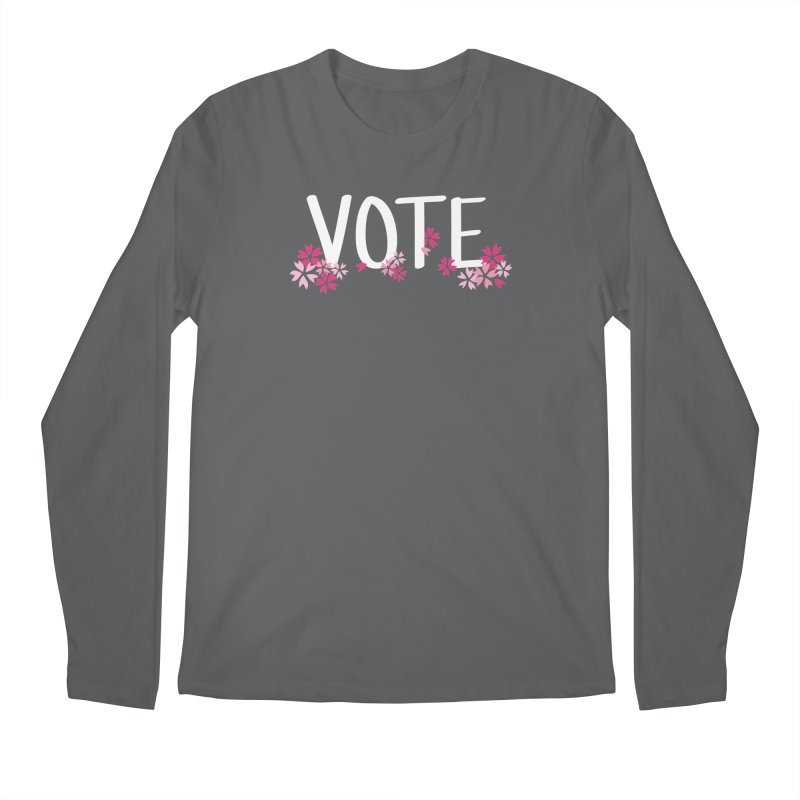 VOTE - Sakura Men's Longsleeve T-Shirt by 6degreesofhapa's Artist Shop