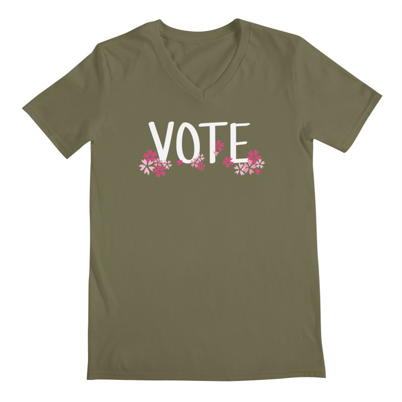 VOTE - Sakura Men's V-Neck by 6degreesofhapa's Artist Shop