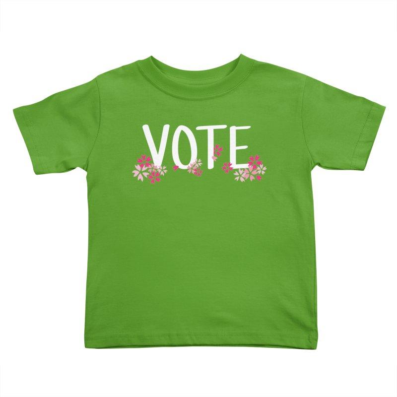 VOTE - Sakura Kids Toddler T-Shirt by 6degreesofhapa's Artist Shop