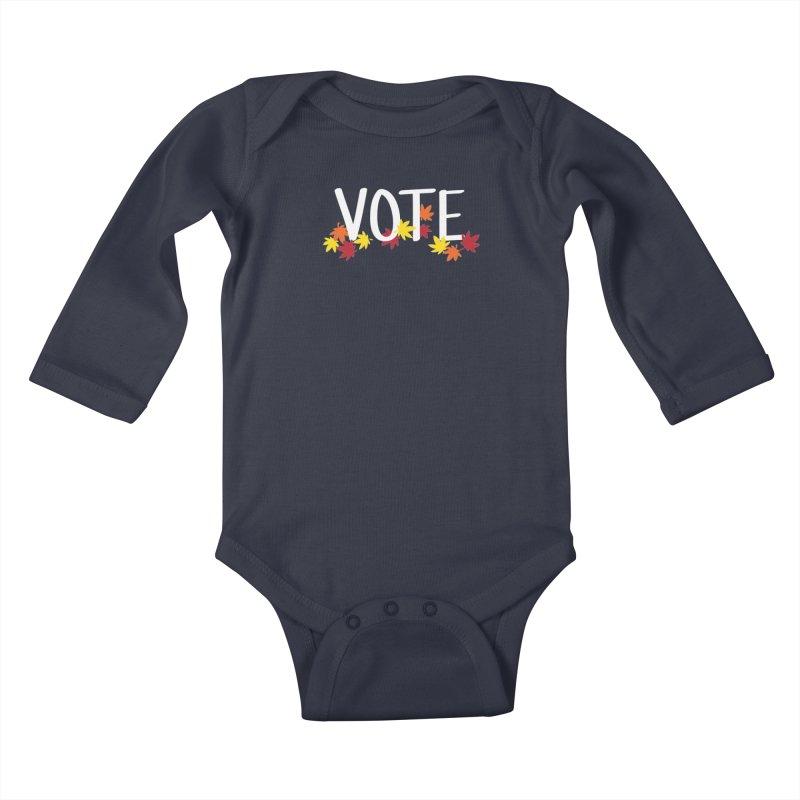 VOTE - Momiji Kids Baby Longsleeve Bodysuit by 6degreesofhapa's Artist Shop