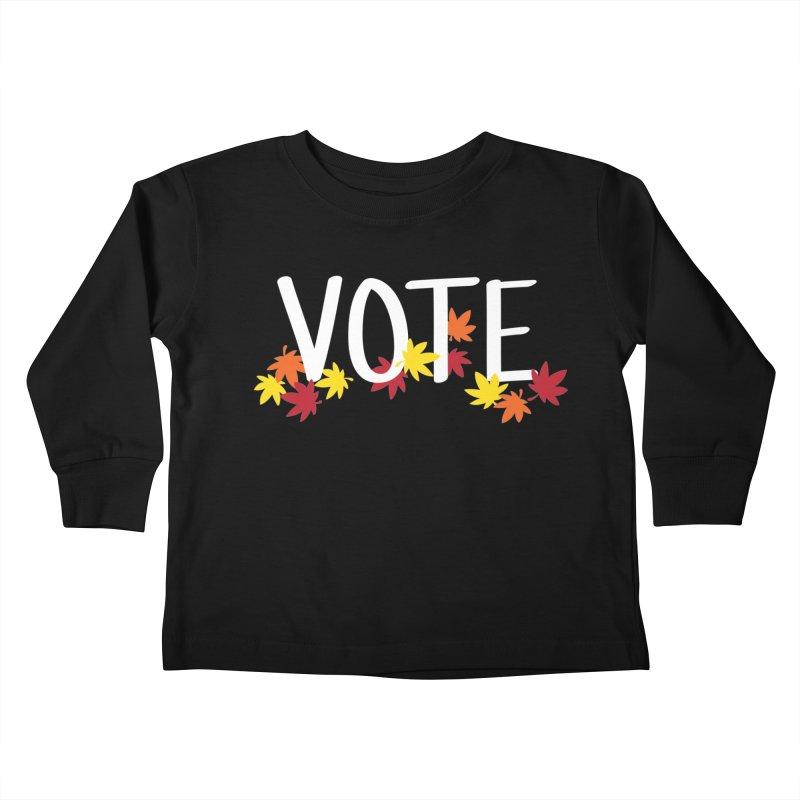 VOTE - Momiji Kids Toddler Longsleeve T-Shirt by 6degreesofhapa's Artist Shop