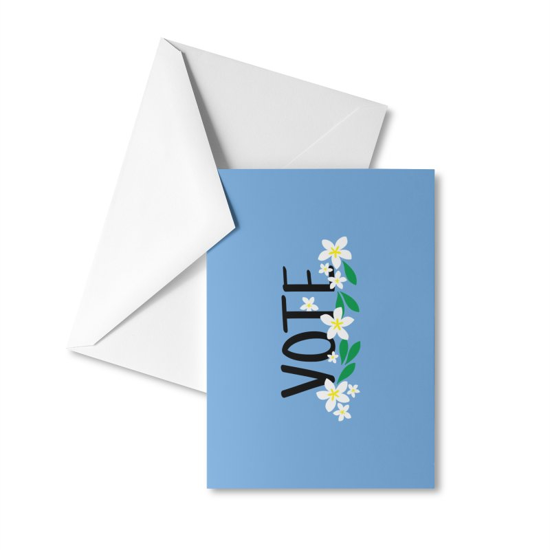 VOTE - Plumerias Accessories Greeting Card by 6degreesofhapa's Artist Shop