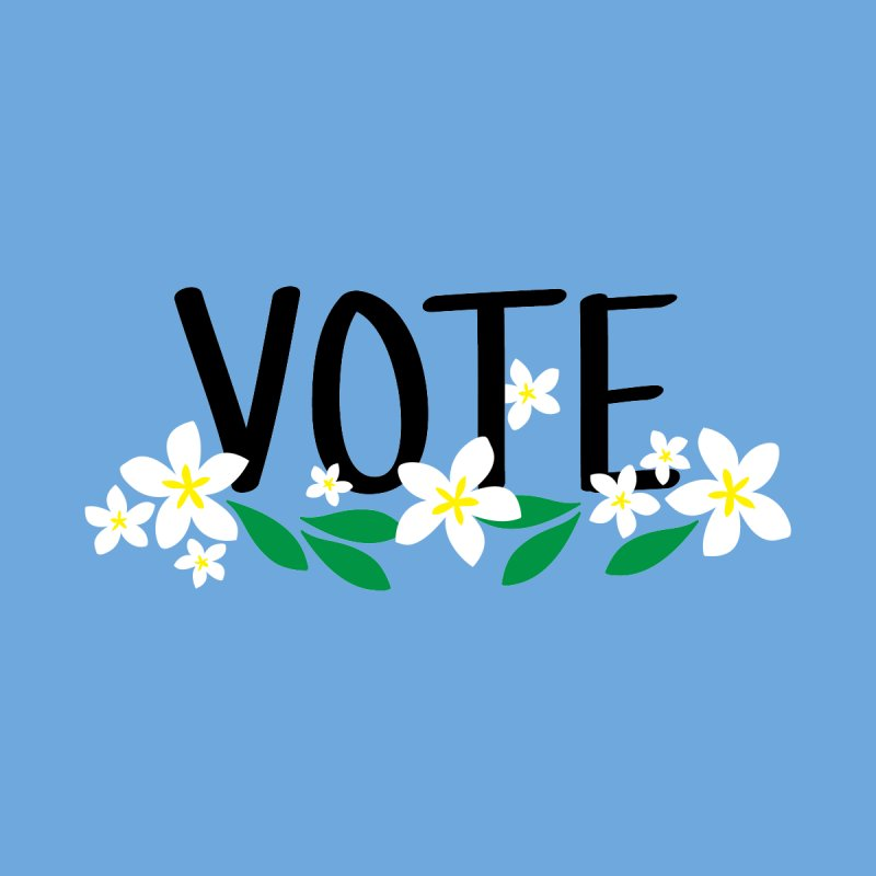 VOTE - Plumerias Women's V-Neck by 6degreesofhapa's Artist Shop