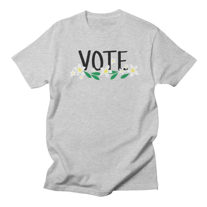 VOTE - Plumerias Men's T-Shirt by 6degreesofhapa's Artist Shop