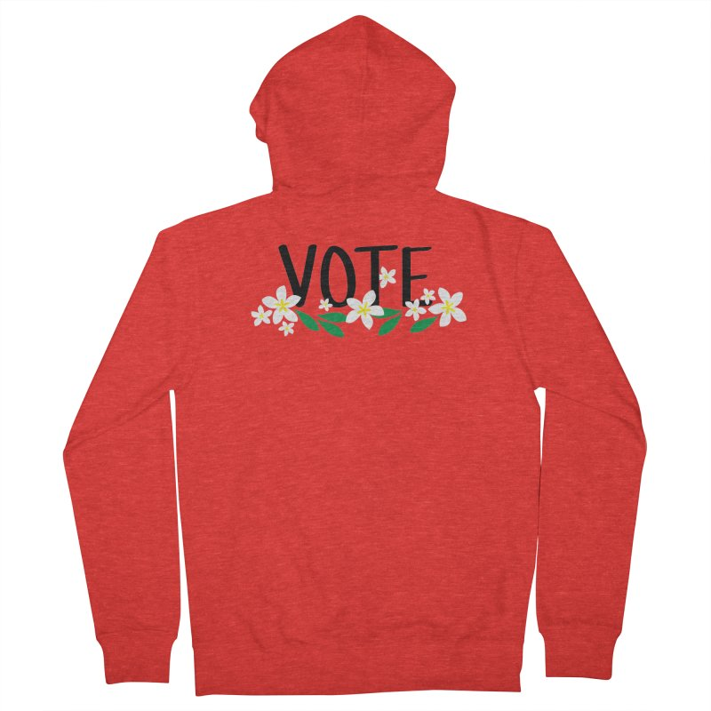 VOTE - Plumerias Men's Zip-Up Hoody by 6degreesofhapa's Artist Shop
