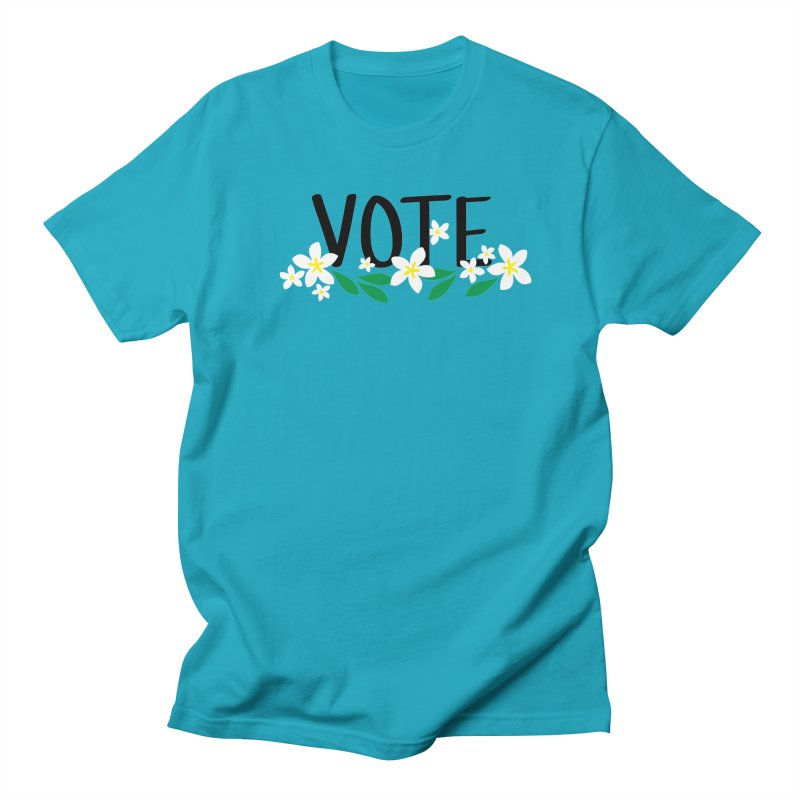 VOTE - Plumerias Men's T-Shirt by 6degreesofhapa's Artist Shop