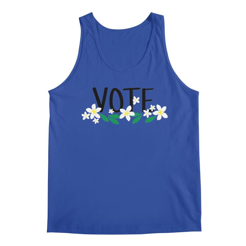 VOTE - Plumerias Men's Tank by 6degreesofhapa's Artist Shop