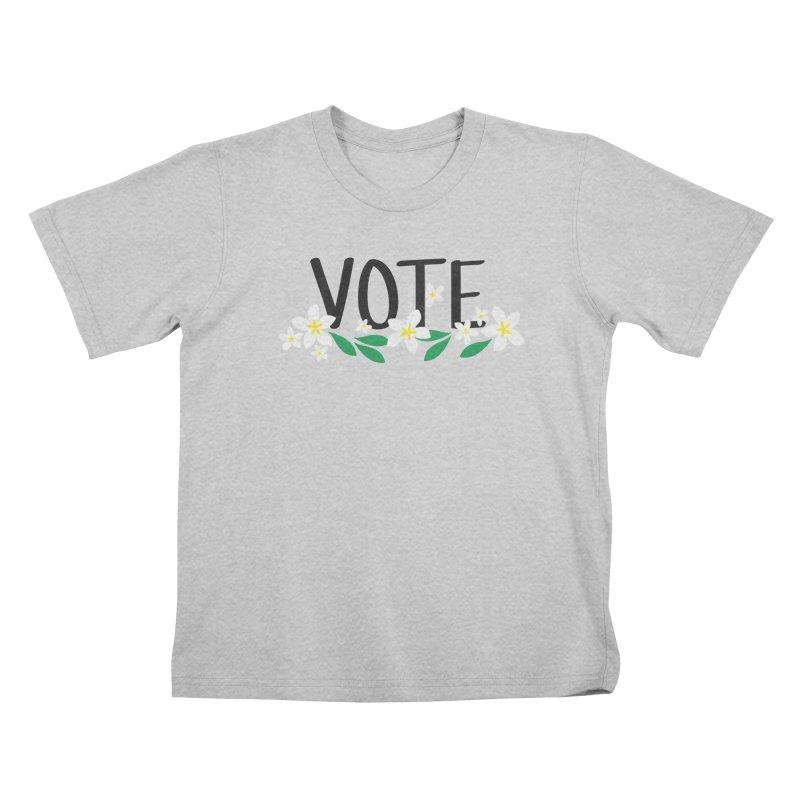 VOTE - Plumerias Kids T-Shirt by 6degreesofhapa's Artist Shop