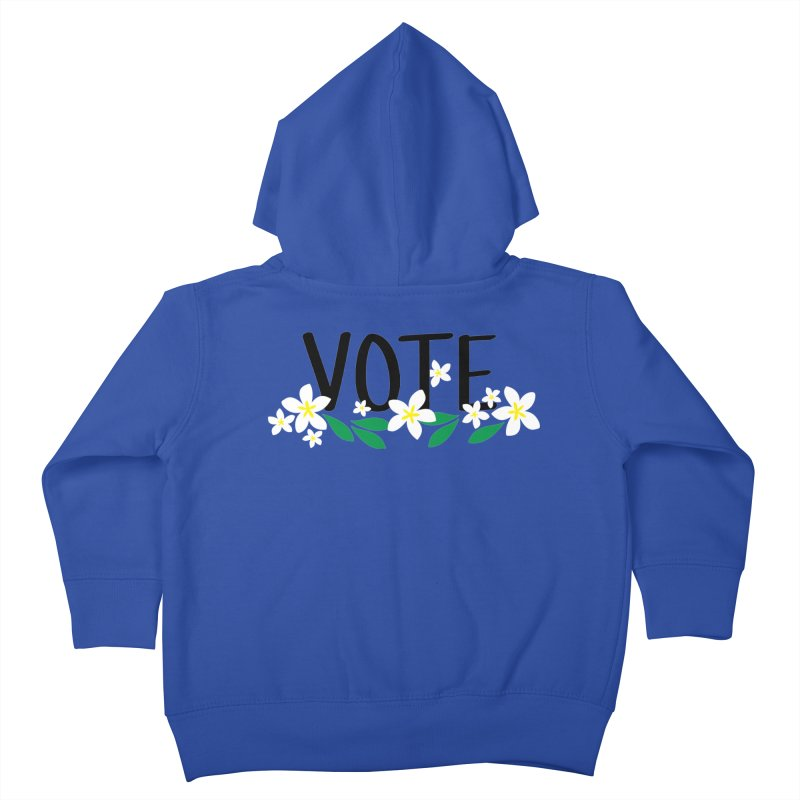 VOTE - Plumerias Kids Toddler Zip-Up Hoody by 6degreesofhapa's Artist Shop